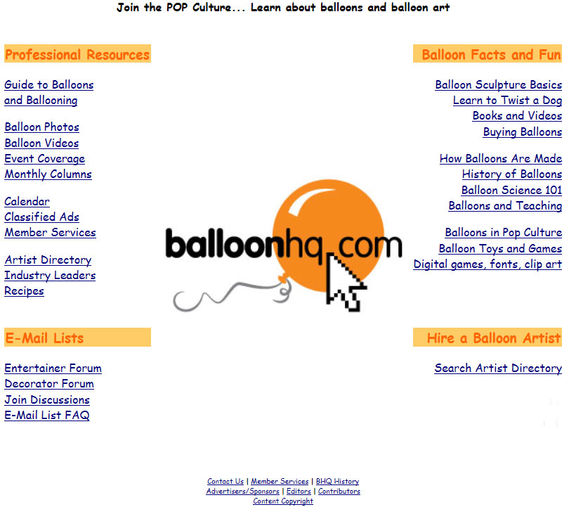 BalloonHQ CSS-driven design rolled  out in December, 2002