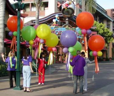 Balloon decor in  Downtown Disney